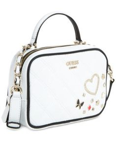 Guess Darin Mini City Bag - White