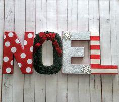 Noel 8 Paper Mache Letters Christmas by Msapple on Etsy
