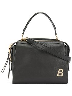 Bally letter plaque structured tote