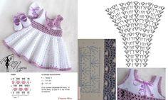 Robes pour fillettes et leurs grilles gratuites ! - Modèles pour Bébé au Crochet