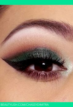 Forest-inspired.  A great pop of dark green with a nice warm red tone thrown into the crease.