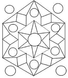 Rangoli design coloring printable Page for kids 1