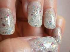 Hayley's Fancy Nail Lacquer - Glistening Teal Glitter Custom Nail Polish by WonderBeautyProducts