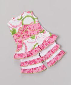 Pink & Green Circle Doll Outfit by AnnLoren #zulily #zulilyfinds