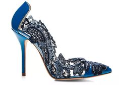 Oscar de la Renta Alyssa Lace Pumps. I'm not much of an embellished shoe person, but these are simply FABULOUS.