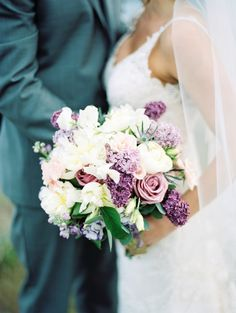 Lavender and violet hued blooms: http://www.stylemepretty.com/canada-weddings/british-columbia/kelowna/2015/09/16/intimate-romantic-british-columbia-wedding/ | Photography: Jenna Hill - http://www.jennahillphoto.com/