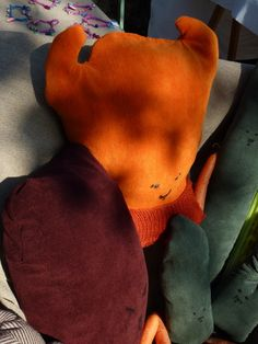 vegetables cushion by Anna Bina #via zanella street market, may 2013