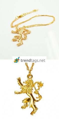 Game of Thrones - Lannister - Necklace - Gold - FREE WorldWide Shipping on { trendtags.net }   #JuegoDeTronos #Lannister #JonSnow #WinterIsComing #JDT