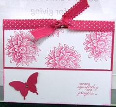 Butterfly and Floral Card from Stampin' Up! swap