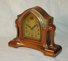 1920s Art Nouveau Lux Model 208 Windup Mantel/Desk by artdecotime, $112.75