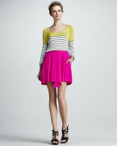 Pleated Asymmetric Skirt by Dolce Vita at Neiman Marcus.