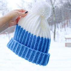 Ravelry: Modern PomPom Hat pattern by Cindy Unangst Crochet Hats For Boys, Baby Hats Knitting, Knitted Hats, Kids Crochet, Crochet Baby, Crochet Dolls, Crochet Beanie Pattern, Crochet Patterns, Knitting Patterns