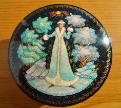 Palekh Russian Miniature Papier Mâché Lacquer by APureVintage, £60.00