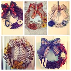 Fall wreaths I've made! #doordecor