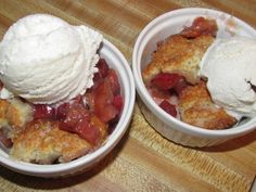 My husband requested this Rhubarb Cobbler and I was pleasantly surprised! It tasted like a sweet/tart, gooey/rich cherry like cobbler! Rhubarb Desserts, Rhubarb Recipes, Summer Desserts, Fun Desserts, Rhubarb Cobbler, Cobbler Topping, Minced Meat Recipe, Drop Biscuits, Sugar Cookie Dough