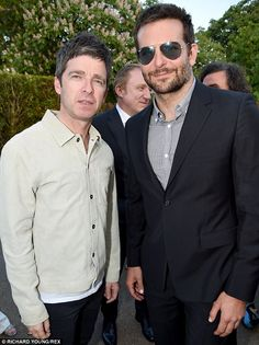 Bradley is reunited with former Oasis guitarist Noel Gallagher, just days after partying with him at the Glastonbury Festival