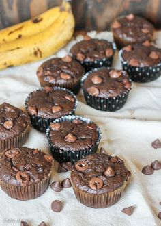 These Caramel Filled Chocolate Banana Bread Muffins are loaded with caramel filled DelightFulls in moist, chocolatey banana bread muffins! These caramel center makes this easy, one-bowl recipe even more delicious.