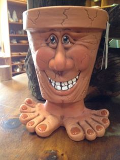 Ceramic Pot  Face Pot  People Pots 350 by BearTracksTradingCo, $39.99