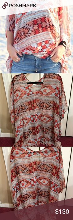 🌵HP🌵Show me your MUMU peta Festival Boho tunic Show me your MUMU Santa Fe Fiesta print peta tunic, great tunic  Festival boho bohemian gypsy weekend summer vacation hippie spring beach Show Me Your MuMu Tops Tunics