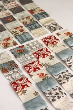 How to quickly stitch up a randomised panel of patchwork squares.