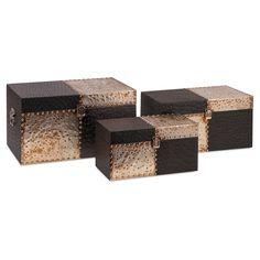 Imax Cobb Decorative Trunk - Set of 3 - 52004-3