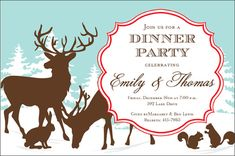 Woodland Holiday Invitations