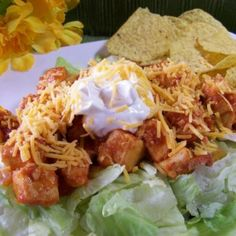 10. Easy #Chicken Taco Salad for Two - 15 Easy #Dinner Recipes for Two to Wow Your Man ... → #Cooking #Minute