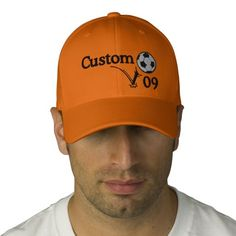 Custom Soccer Hat For Coach, Player & The Team! Embroidered Baseball Caps