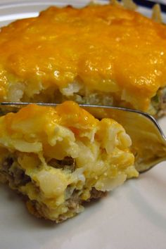 Sausage Casserole Recipe with Potatoes, Cheese & Eggs