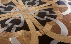 Parchettificio's wood floor mosaic.  Just Beautiful!