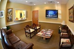 dr office waiting room - chair rail