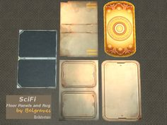Leander Belgraves - 5 SciFi Floor Panels and Rug for your Spaceship or...