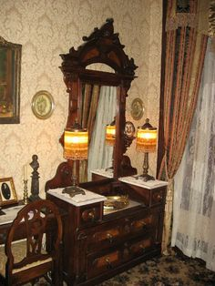 This is an 1860's vintage dresser, in a mansion built in 1872.