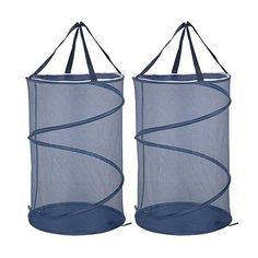 Landoom Hampers for Laundry, Pop Up Mesh Folding Laundry Baskets for 2 pack