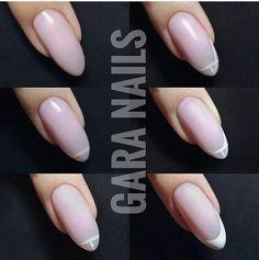 French Manicure Nails, French Nails, Diy Nails, Elegant Nail Designs, Diy Nail Designs, Fake Nails Long, Nail Art Design 2017, Nail Drawing, Nail Techniques