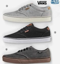 Zapatos deportivos Vans para hombres. Tenis o zapatillas de Moda del 2016