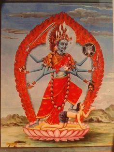 Indian Goddess Kali, Indian Gods, Indian Art, Mother Kali, Divine Mother, Maa Kali Images, Kali Hindu, Kali Mata, Lord Shiva Pics
