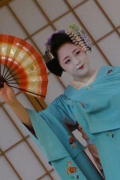 Mineko Iwasaki 1960 Geiko and Maiko on Pin...
