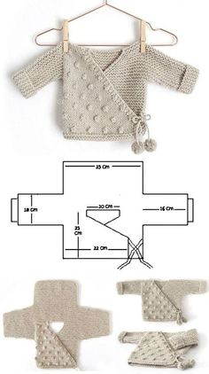 Oma-Eule 26 Baby-Outfit-Modelle BABY Eule Strickkleidung Modelle Gruppe - Baby Strickmuster f r Wee House Brosche und Schl sselring f r S Agustus Baby Baby Knitting Patterns, Baby Patterns, Free Knitting, Crochet Patterns, Baby Sweater Patterns, Knitting Needles, Crochet Ideas, Baby Outfits, Baby Kimono