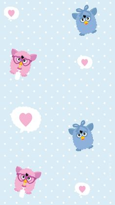 Furby Baby Blue iPhone WP