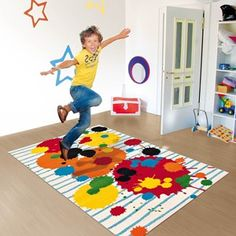 Tapis Trendy Line ~ Colour Festival Multi Joy - Arte Espina Contemporary Rugs, Modern Rugs, Bold Colors, Colours, Childrens Rugs, Kids Line, Tapis Design, Colorful Rugs, Multicoloured Rugs