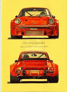 Discover recipes, home ideas, style inspiration and other ideas to try. Carros Porsche, Hot Rods, Porsche 911 Classic, Porsche 930 Turbo, Automobile, Car Illustration, Illustrations, Vintage Porsche, Porsche Cars