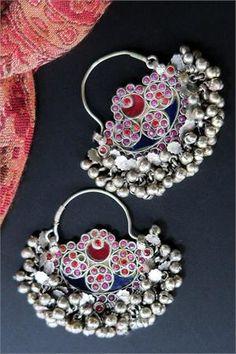 Vintage Kuchi Tribal Jewelry Earrings