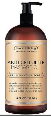 skin tightening oil Anti Cellulite Treatment Massage Oil - All Natural Ingredients – Penetrates Skin 6X Deeper Than Cellulite Cream - Targets Unwanted Fat Tissues & Improves Skin Firmness – 8 OZ $14.95 & FREE Shipping on orders over $25.