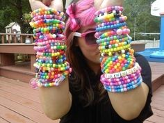 Rainbow Brite Kandi Bracelets  Grab Bag by coleydinosaur on Etsy