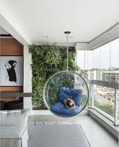 Apartamento tem espaço gourmet integrado à sala #hogarhabitissimo