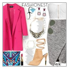 """Fashionest: Trendy Fashion Jewelry!"" by vaniasb152 ❤ liked on Polyvore featuring H&M, NLY Trend, Bobbi Brown Cosmetics, Ray-Ban, Mercedes-Benz and fashionest"
