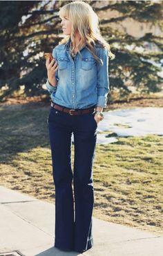 Meninas, o jeans está com tudo! Não estou falando só da calça jeans, nossa querida companheira, mas também de várias peças jeans que estão super forte...