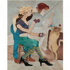 Neşe Erdok, Oyun Oynayan Kedi, 162x130 cm, 2005