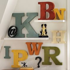Antiqued Metal Letters and Symbols